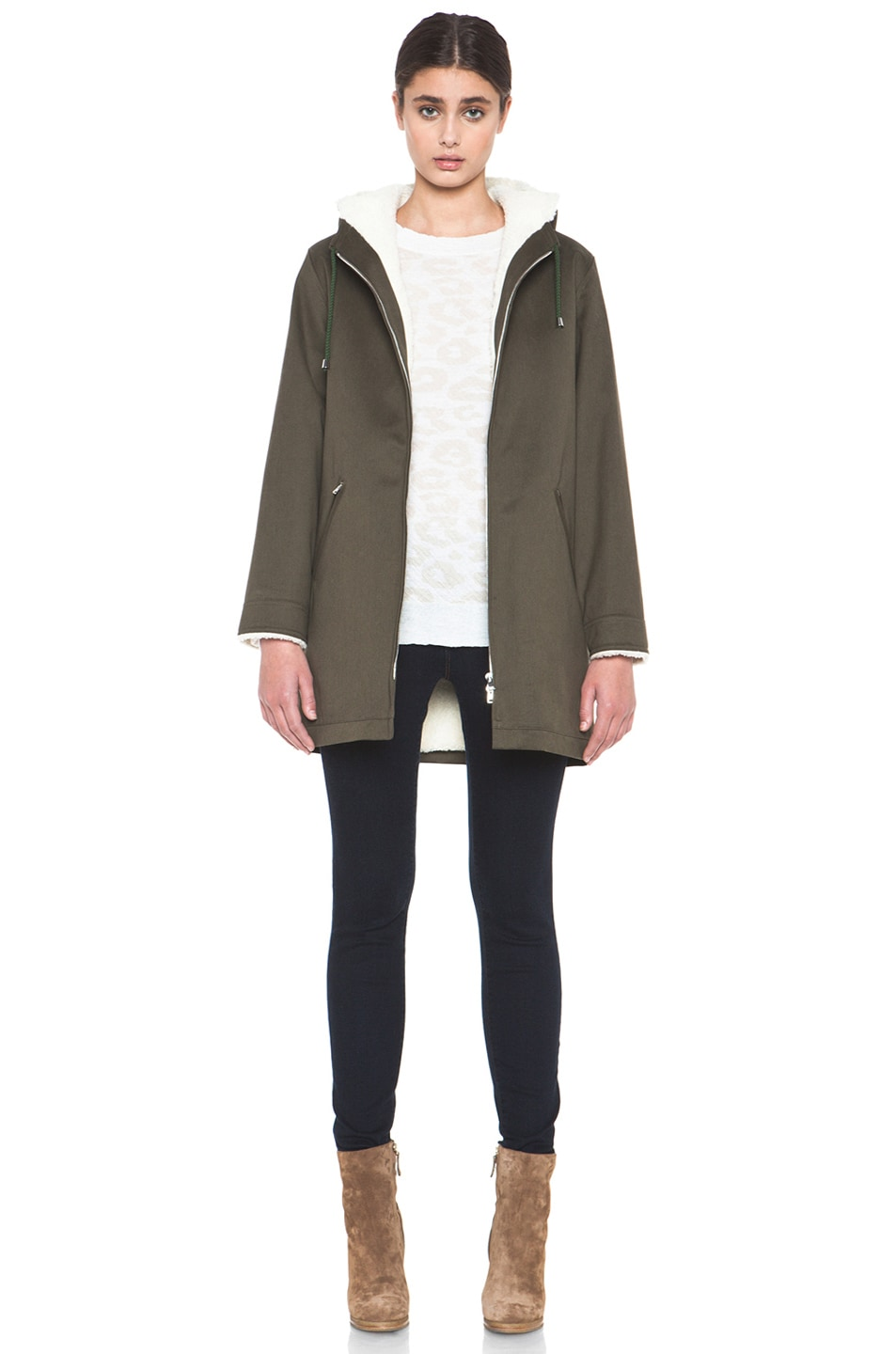 Image 6 of A.P.C. Parka in Military Khaki