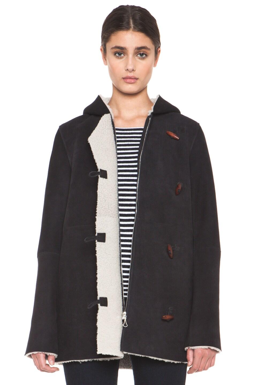 Image 2 of A.P.C. Manteau Capuche Coat in Noir