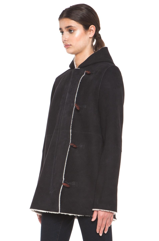 Image 3 of A.P.C. Manteau Capuche Coat in Noir