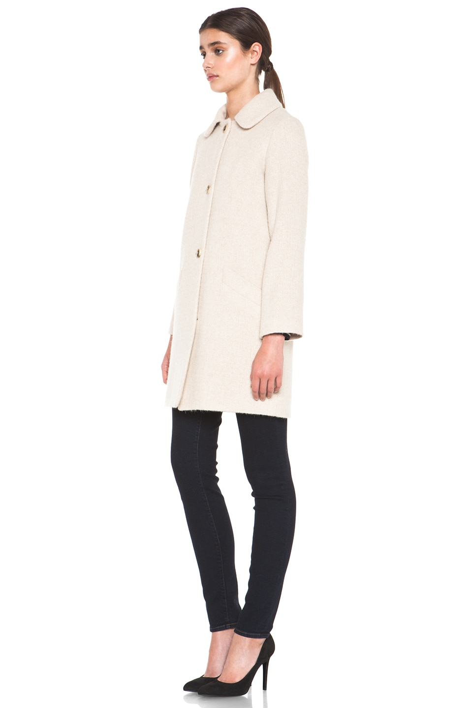 Image 2 of A.P.C. Manteau Poupee Alpaca Jacket in Beige