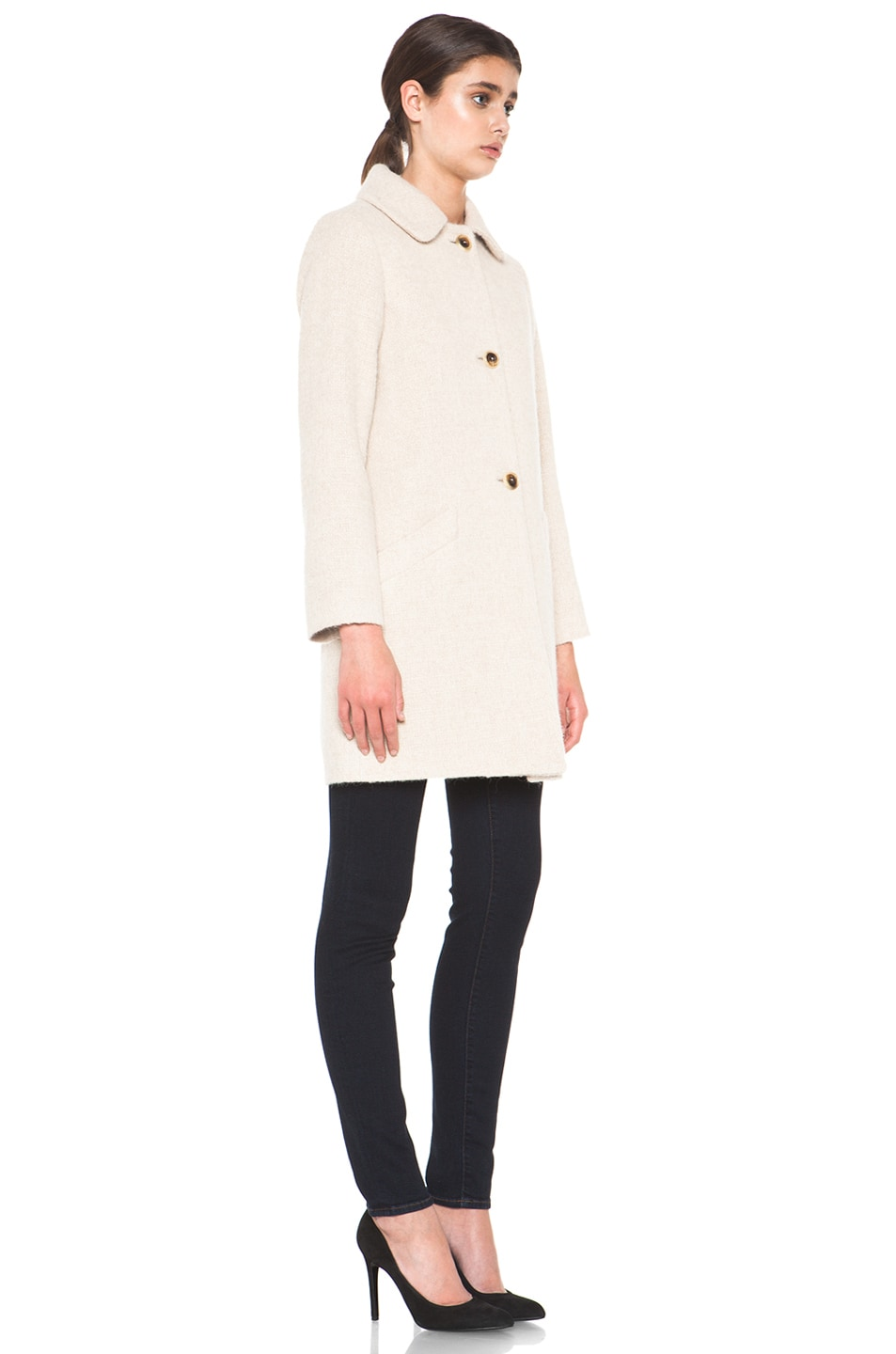 Image 3 of A.P.C. Manteau Poupee Alpaca Jacket in Beige