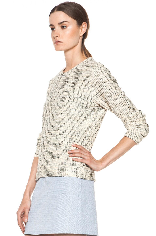 Image 2 of A.P.C. Gold Tweed Sweatshirt in Multicolor