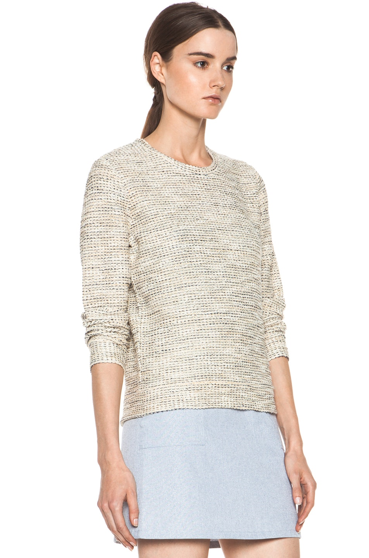 Image 3 of A.P.C. Gold Tweed Sweatshirt in Multicolor