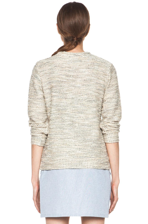 Image 4 of A.P.C. Gold Tweed Sweatshirt in Multicolor