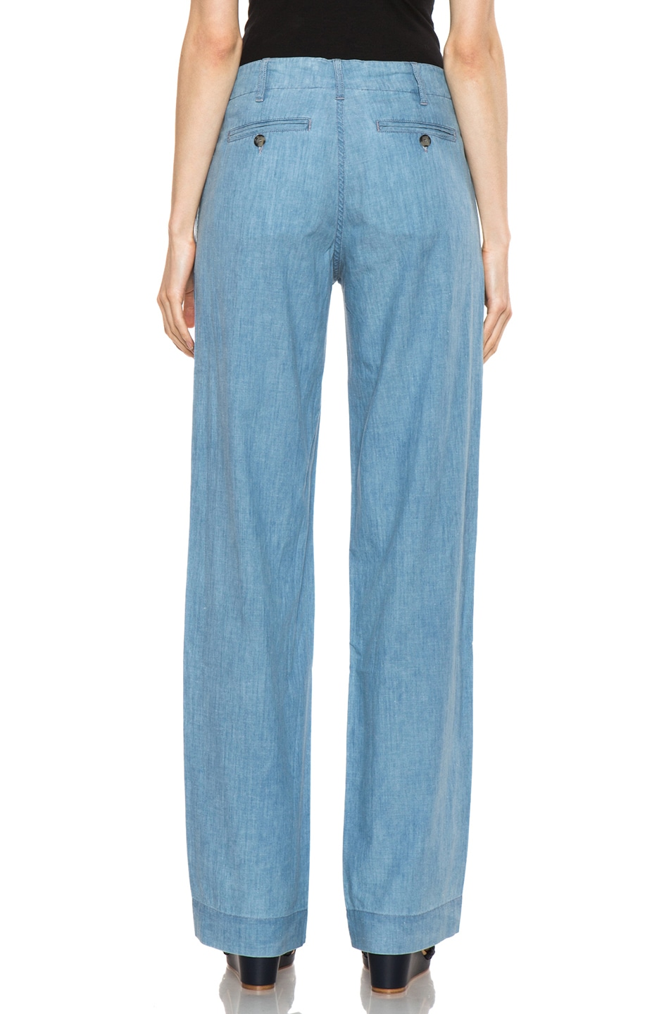 Image 4 of A.P.C. Chambray Chic Pant in Bleu