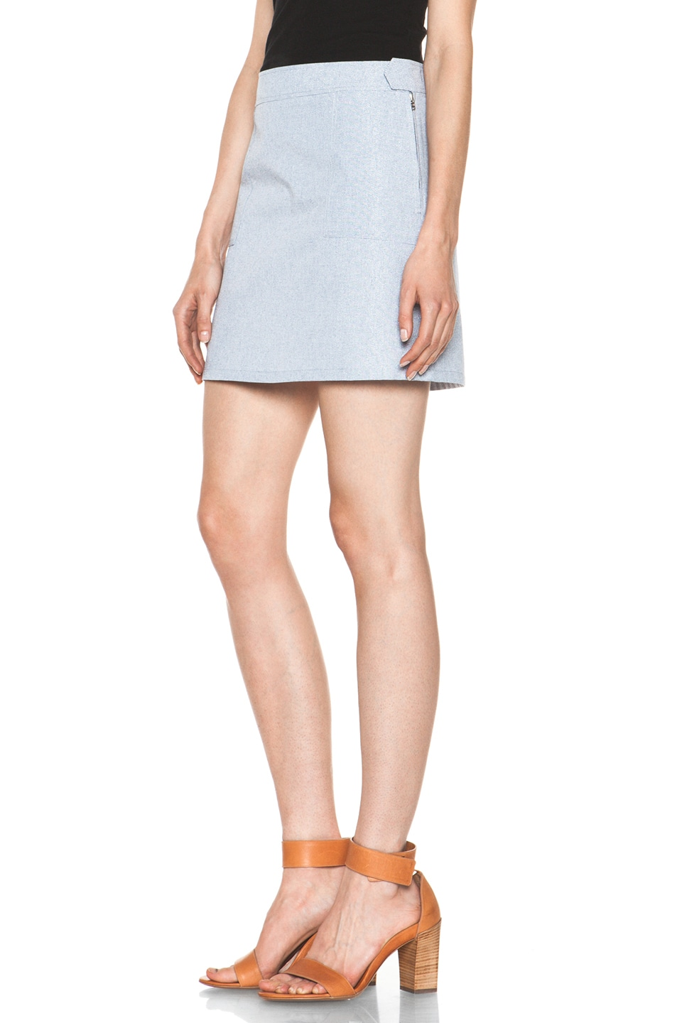 Image 2 of A.P.C. Mini Skirt in Indigo