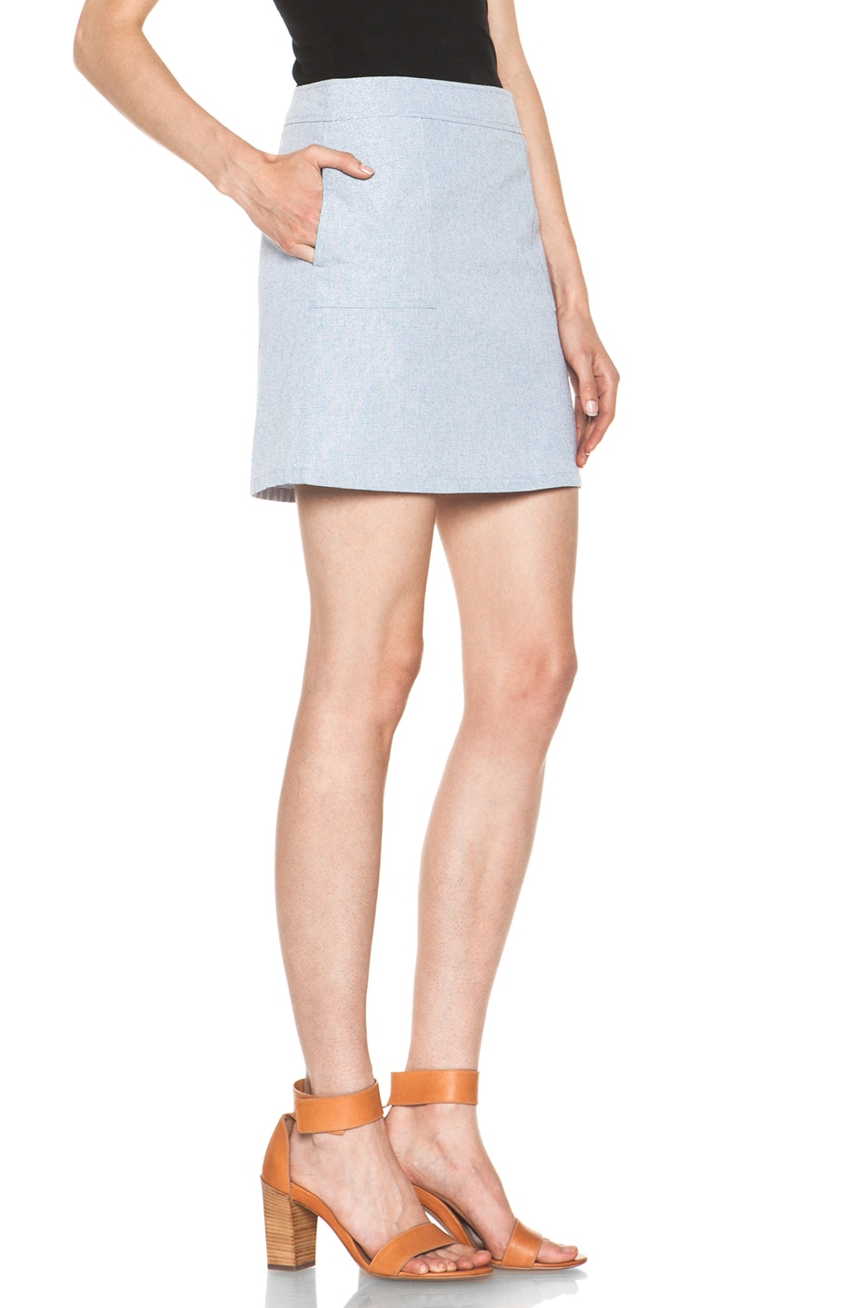 Image 3 of A.P.C. Mini Skirt in Indigo