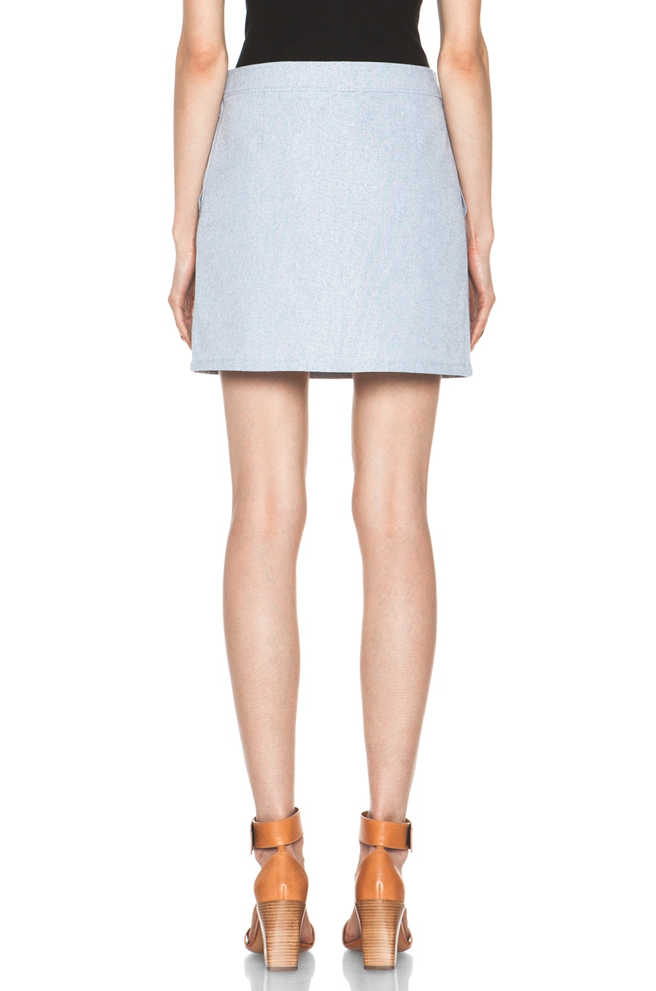 Image 4 of A.P.C. Mini Skirt in Indigo