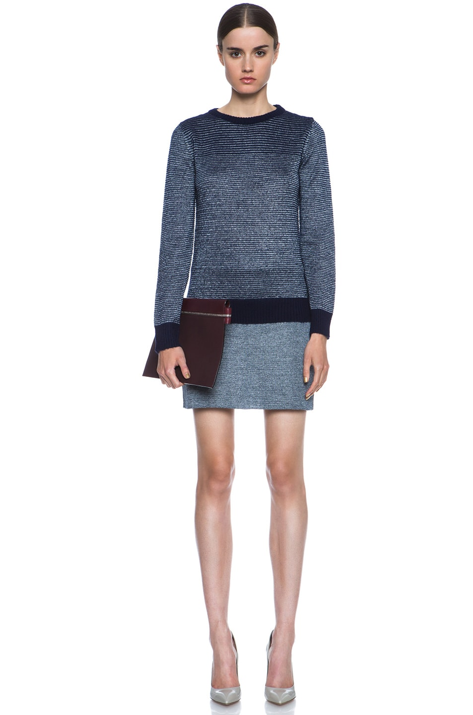Image 5 of A.P.C. Knit Skirt in Indigo