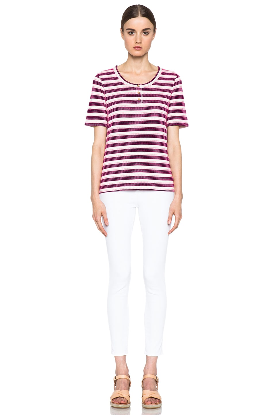Image 5 of A.P.C. Jersey Jacquard Tunisien 70 Tops in Marine
