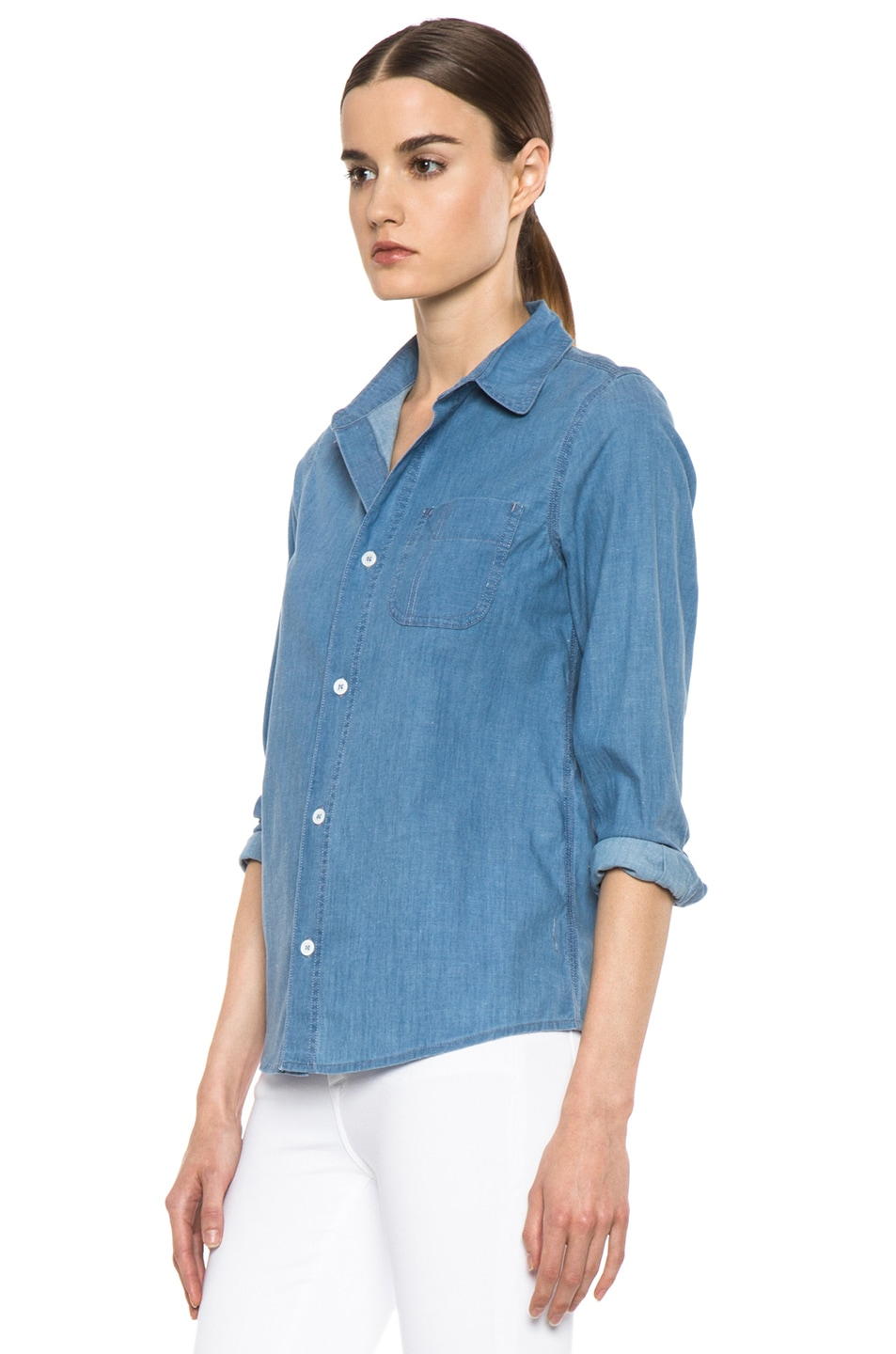 Image 2 of A.P.C. Chambray Chemise in Bleu