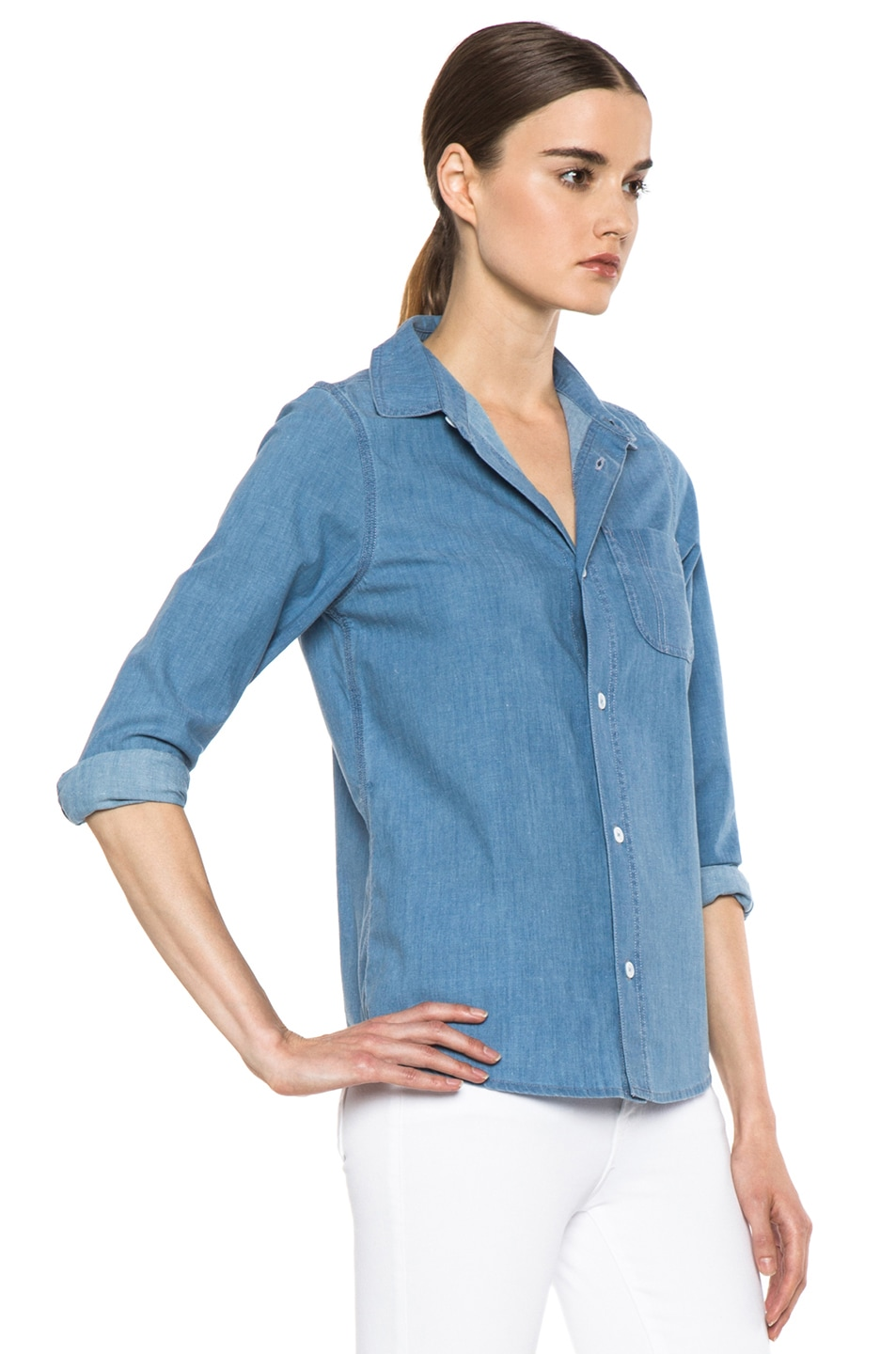 Image 3 of A.P.C. Chambray Chemise in Bleu