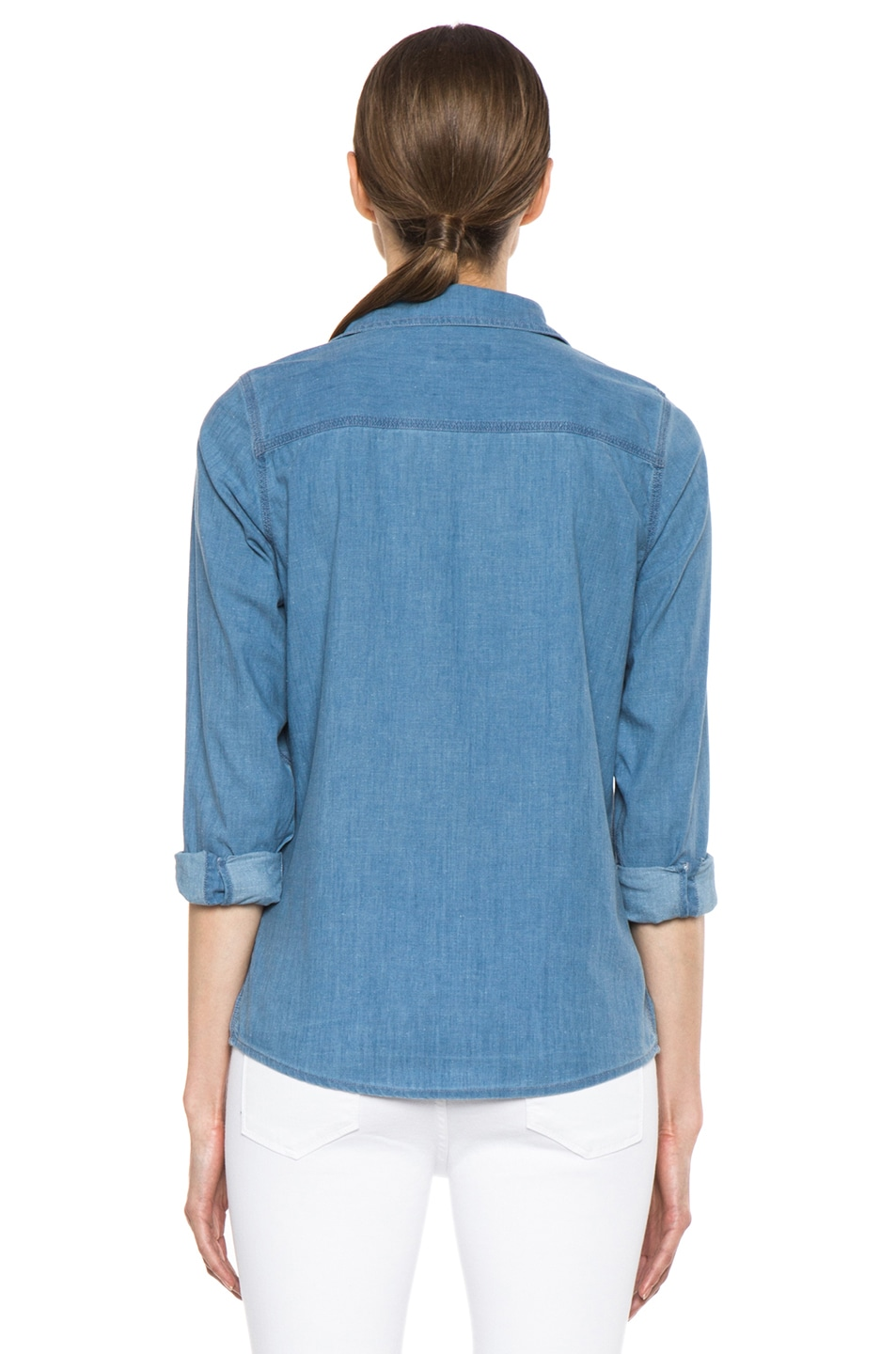 Image 4 of A.P.C. Chambray Chemise in Bleu