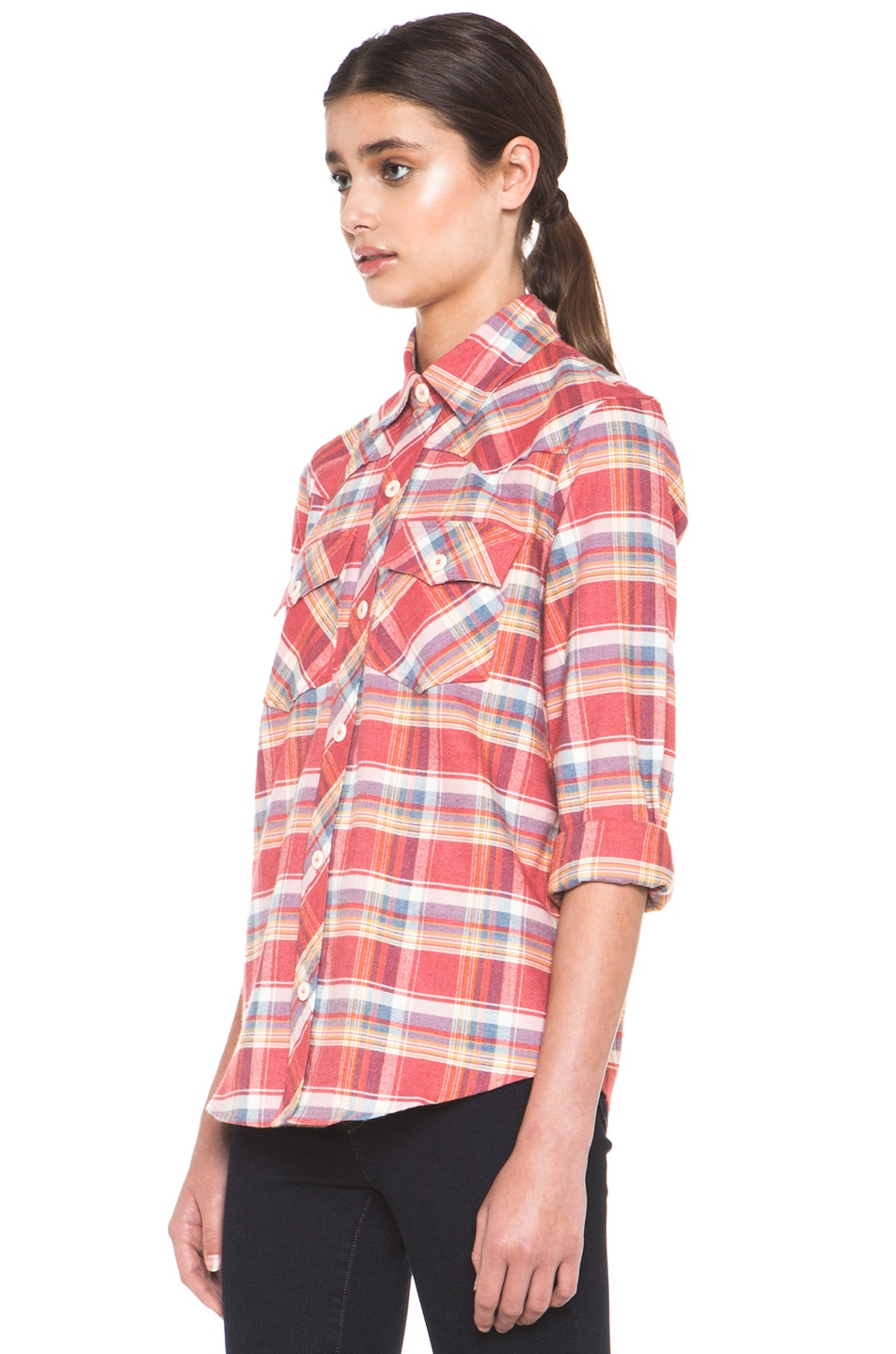 Image 2 of A.P.C. 70s Western Top in Red Orange