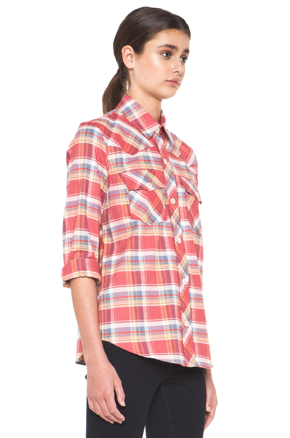 Image 3 of A.P.C. 70s Western Top in Red Orange