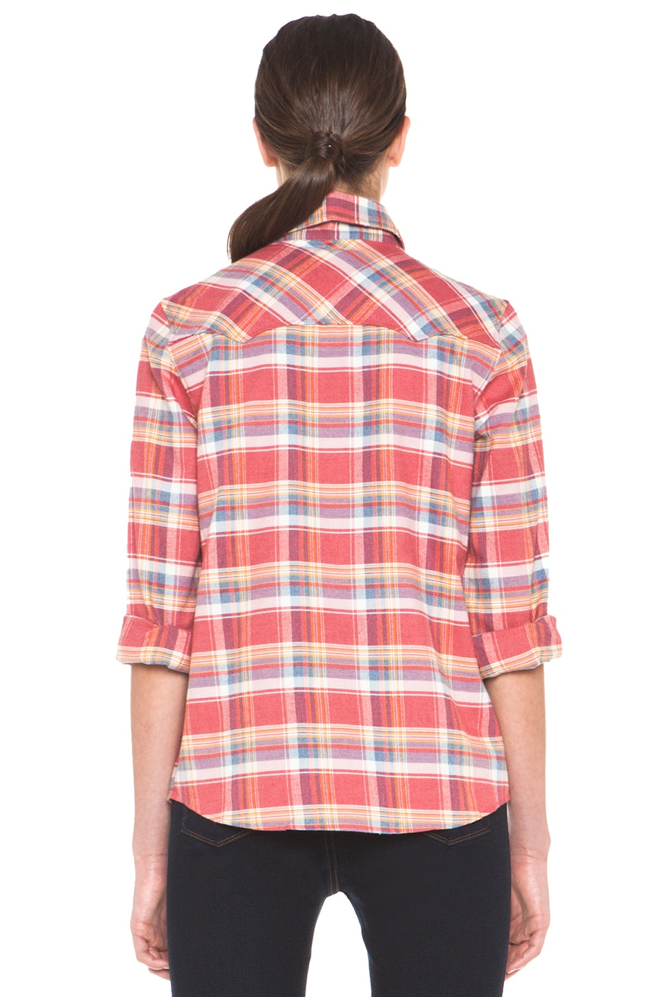 Image 4 of A.P.C. 70s Western Top in Red Orange