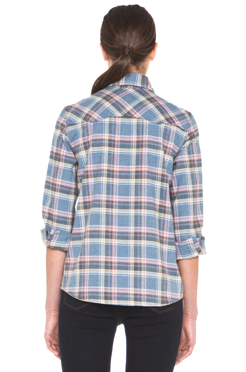 Image 4 of A.P.C. 70s Western Top in Blue Grey