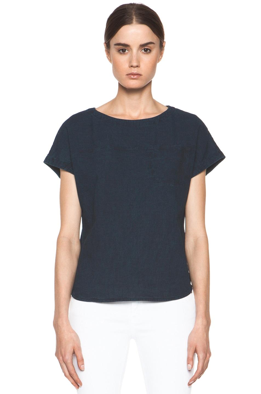 Image 1 of A.P.C. Fine Denim Shirt in Indigo