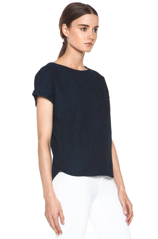 Image 3 of A.P.C. Fine Denim Shirt in Indigo