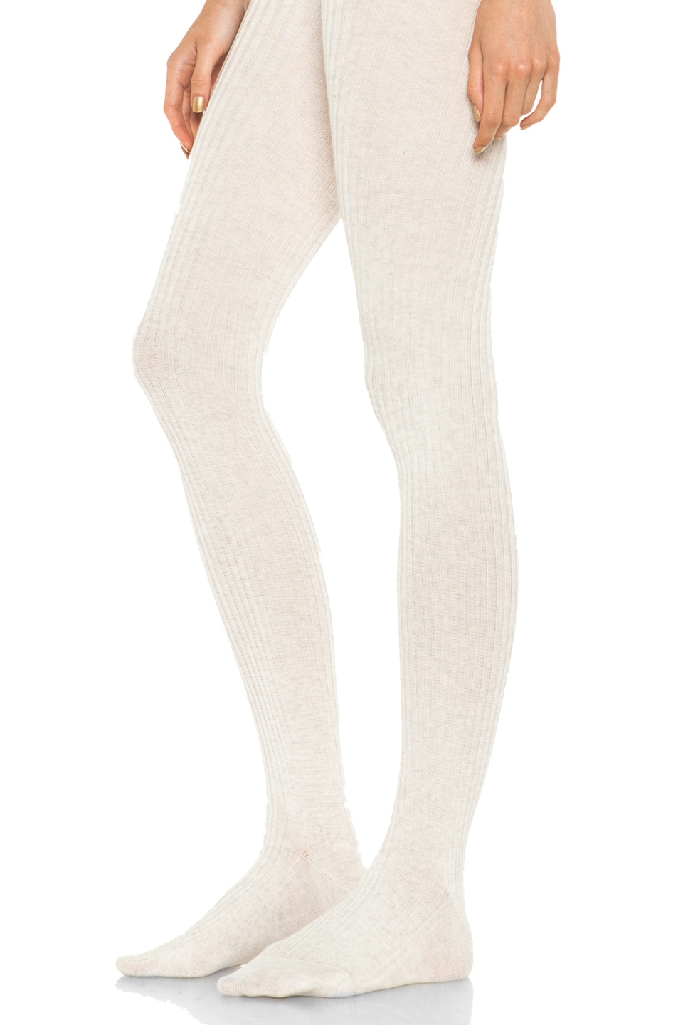 Image 2 of A.P.C. Collant Tights in Beige