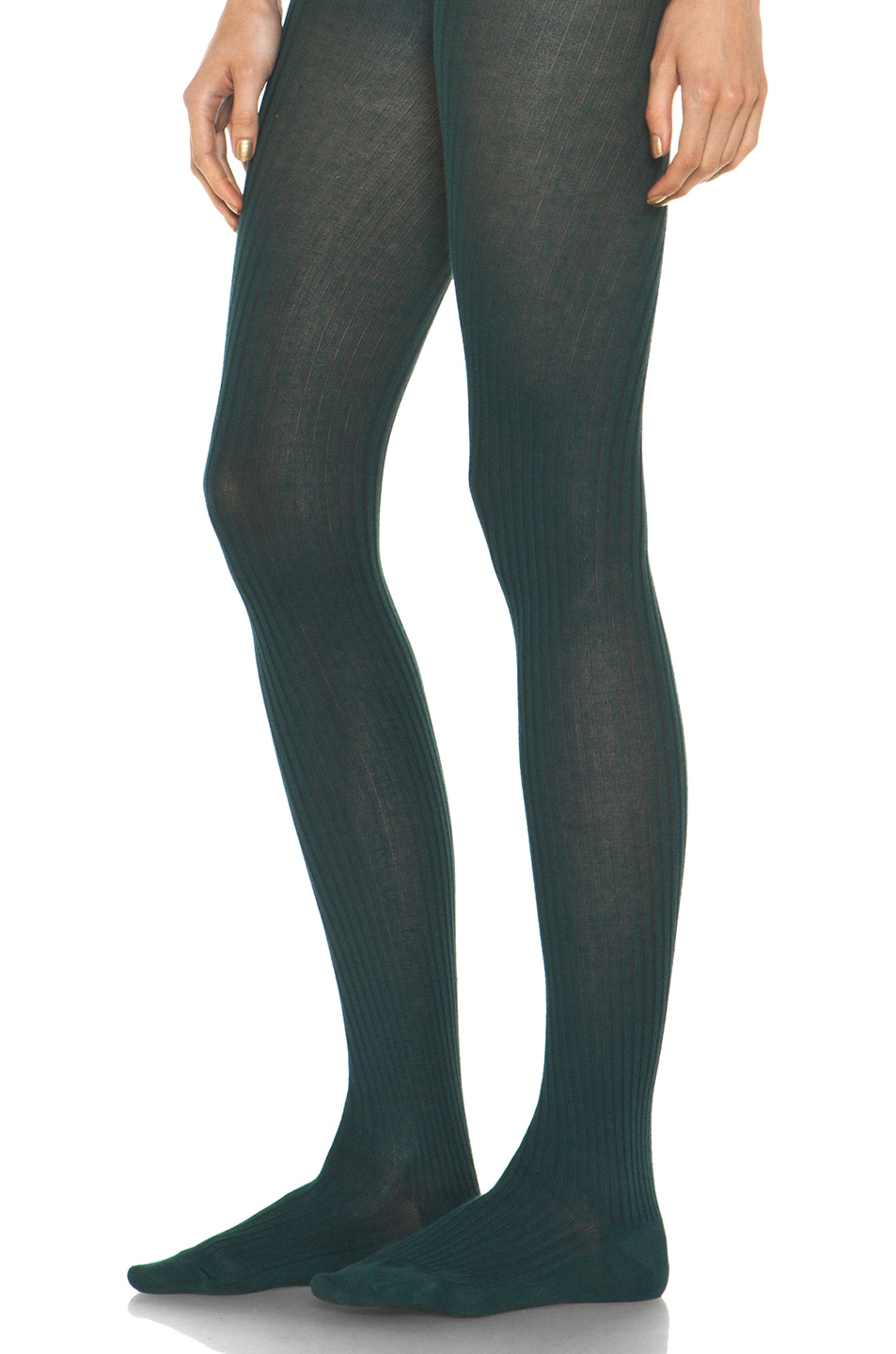 Image 2 of A.P.C. Collant Tights in Blue Canard