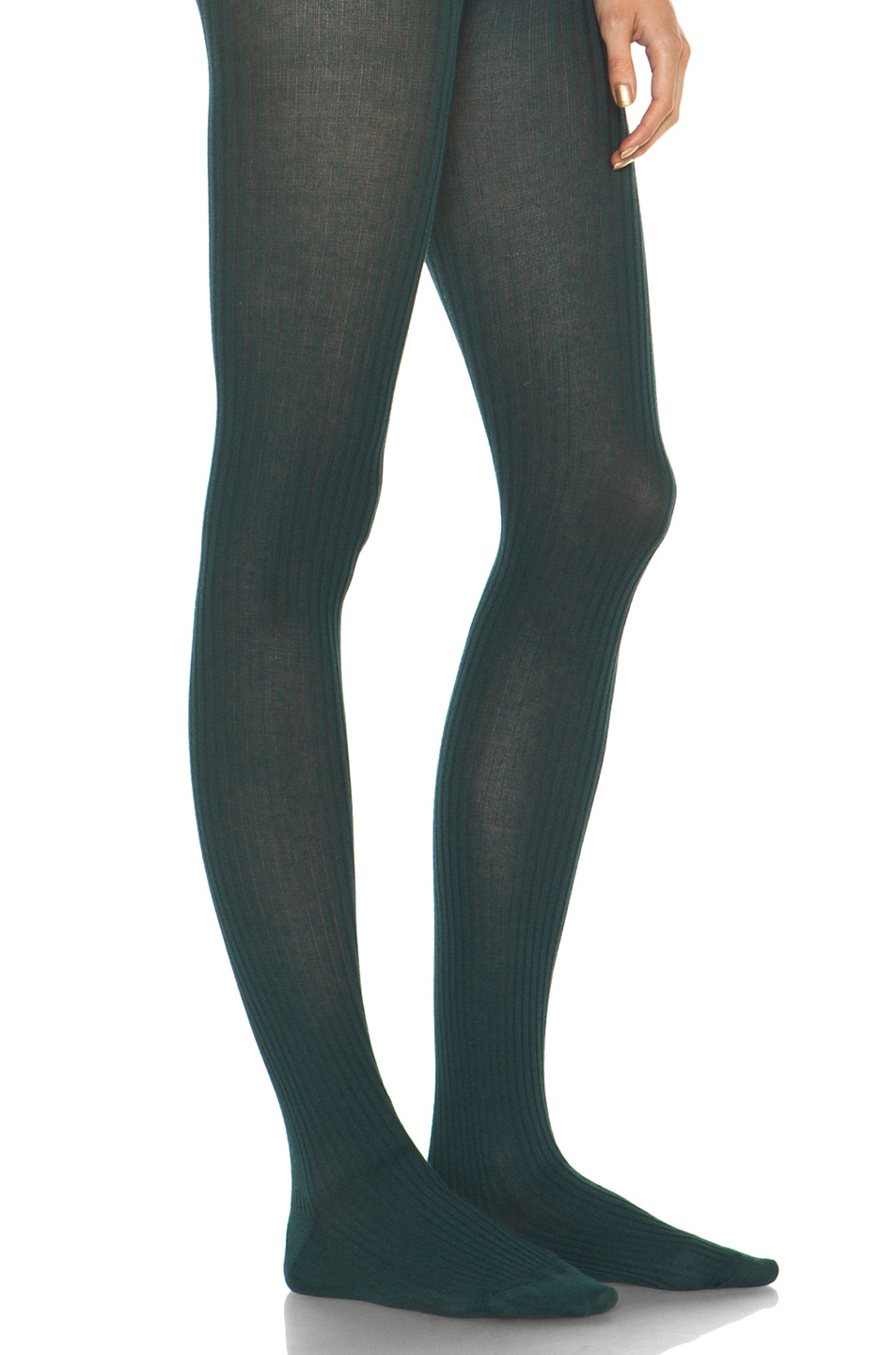 Image 3 of A.P.C. Collant Tights in Blue Canard