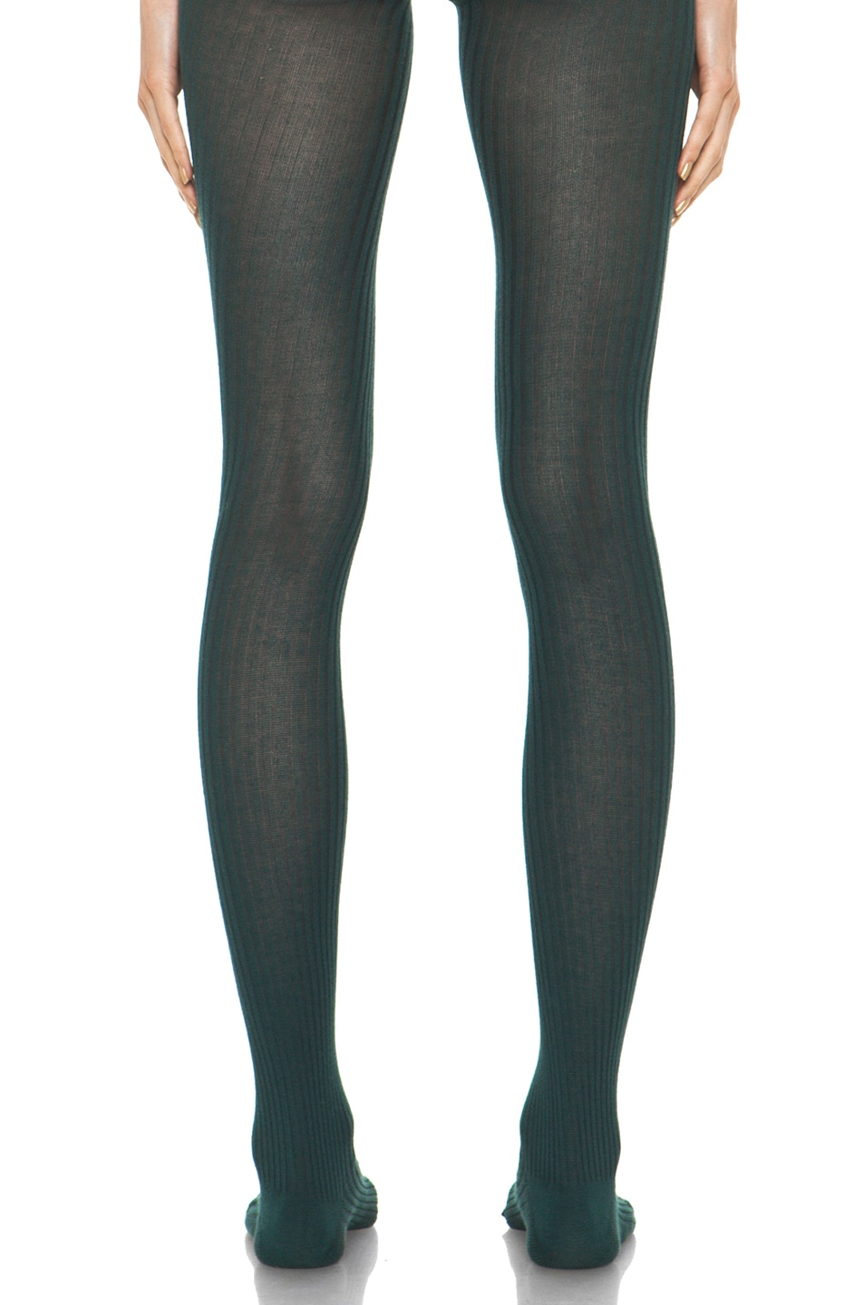 Image 4 of A.P.C. Collant Tights in Blue Canard