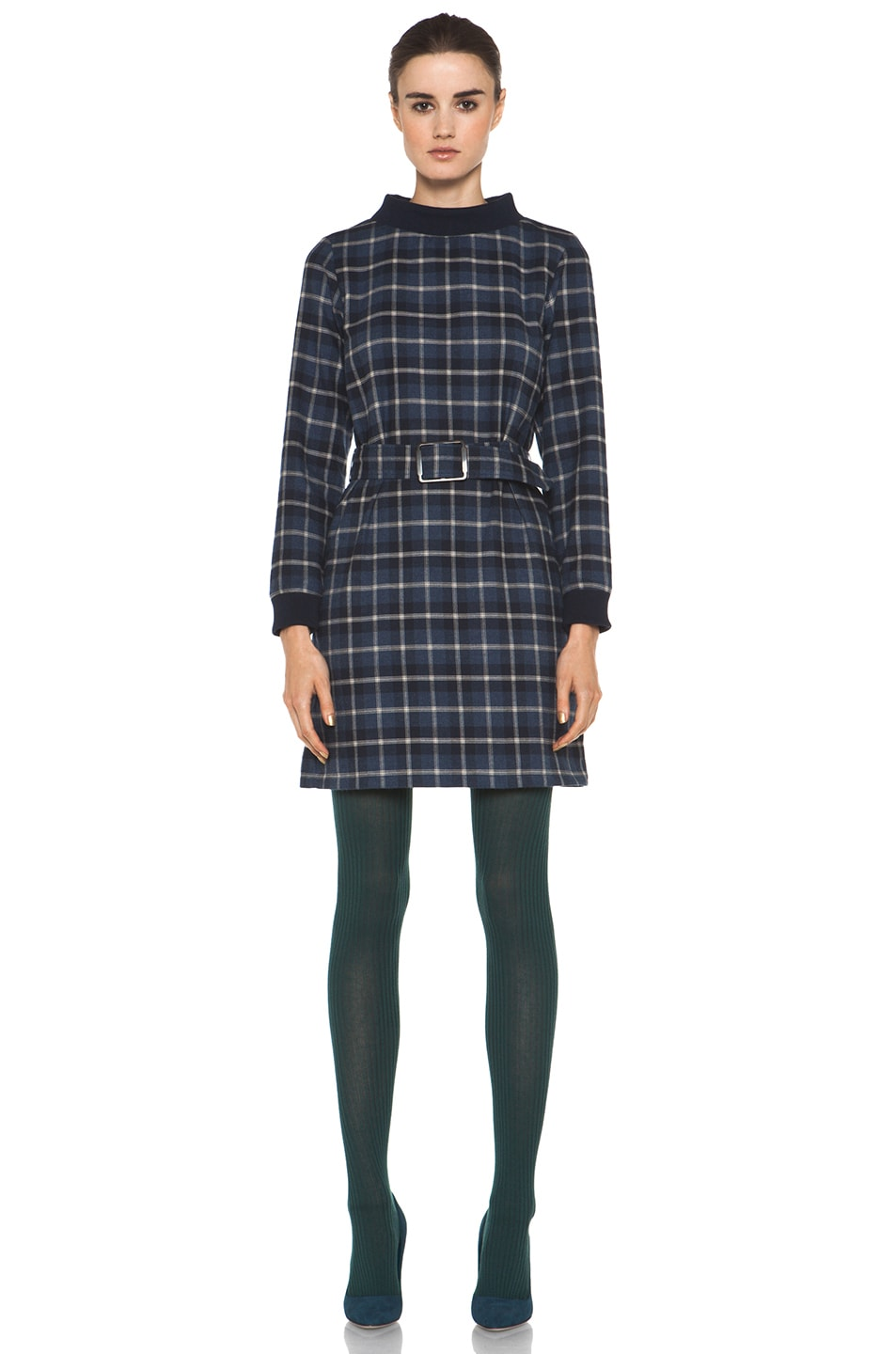 Image 5 of A.P.C. Collant Tights in Blue Canard