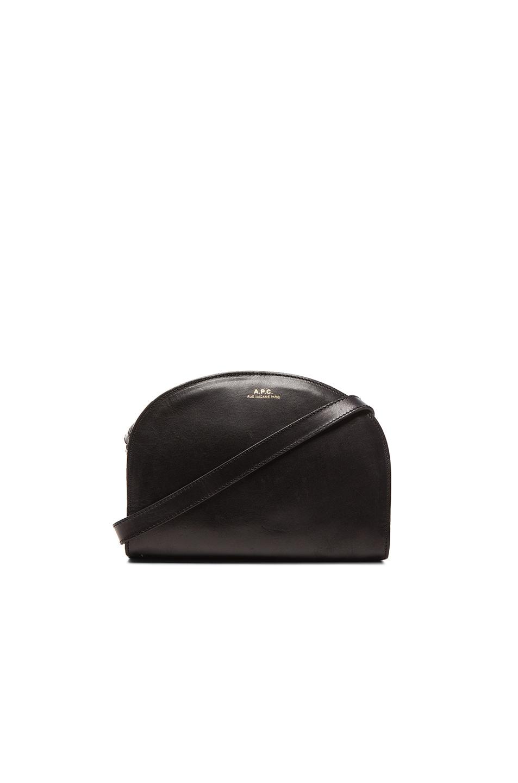 Image 1 of A.P.C. Demi Lune Bag in Black