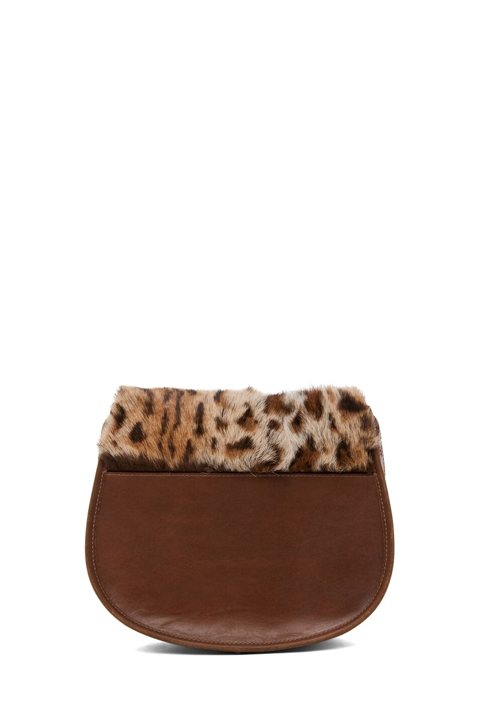 Image 2 of A.P.C. Sac Besace Leopard Bag in Caramel