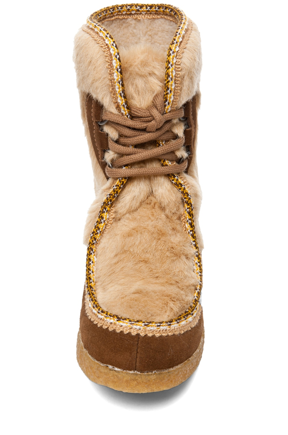 Image 4 of A.P.C. Veau Velours Moccasin Fur Boot in Noisette