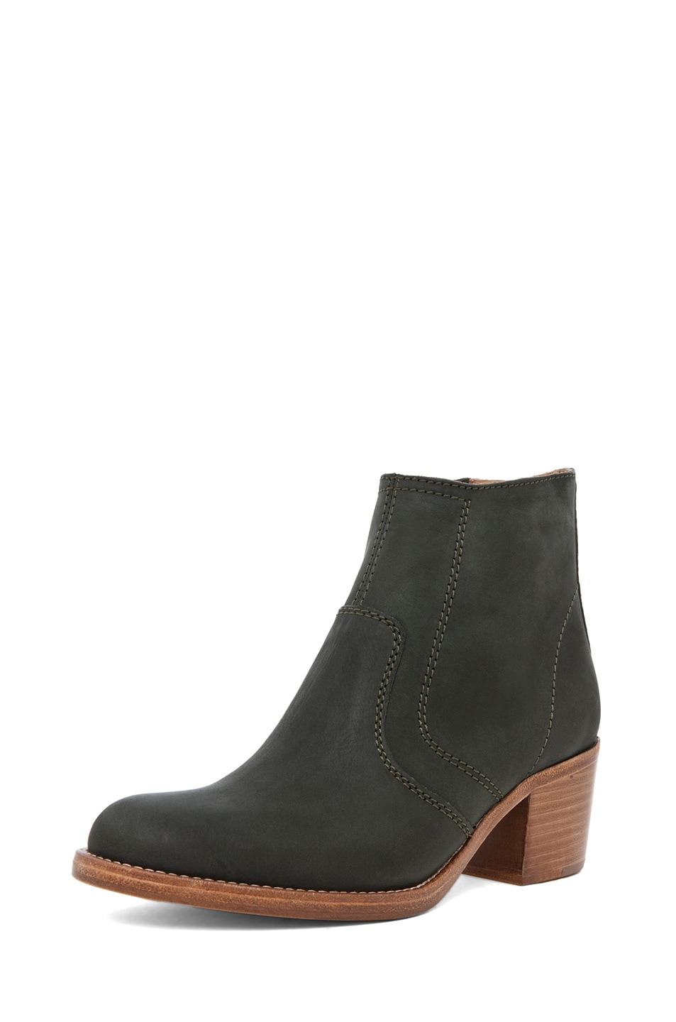 Image 2 of A.P.C. Camarguaise Boot in Vert Fonce