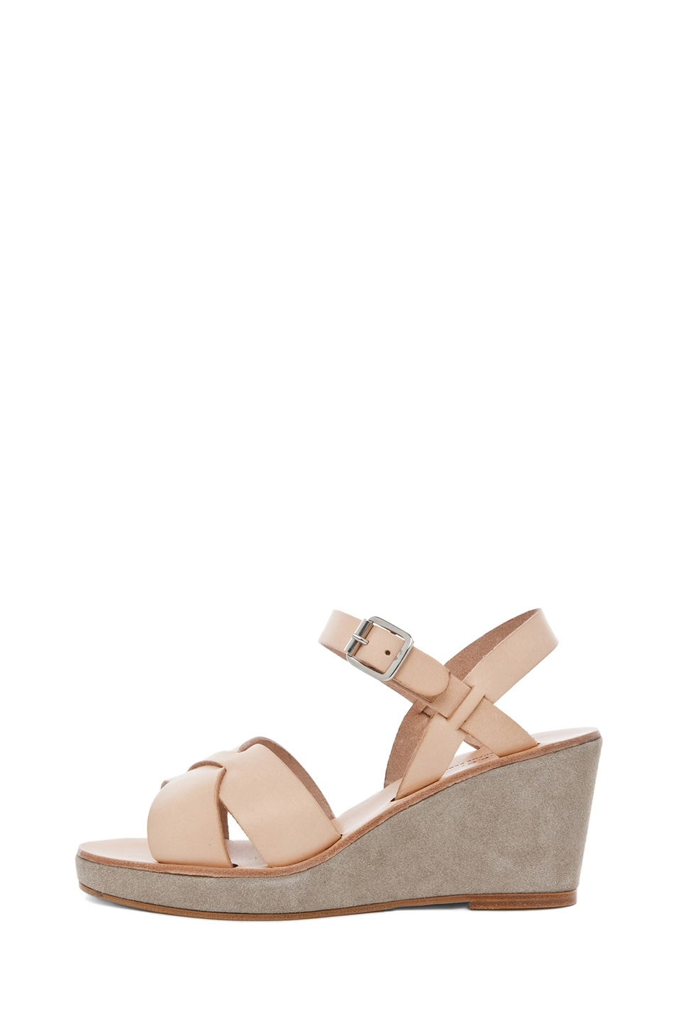 Image 1 of A.P.C. Criss Cros Wedge Sandal in Beige Naturel