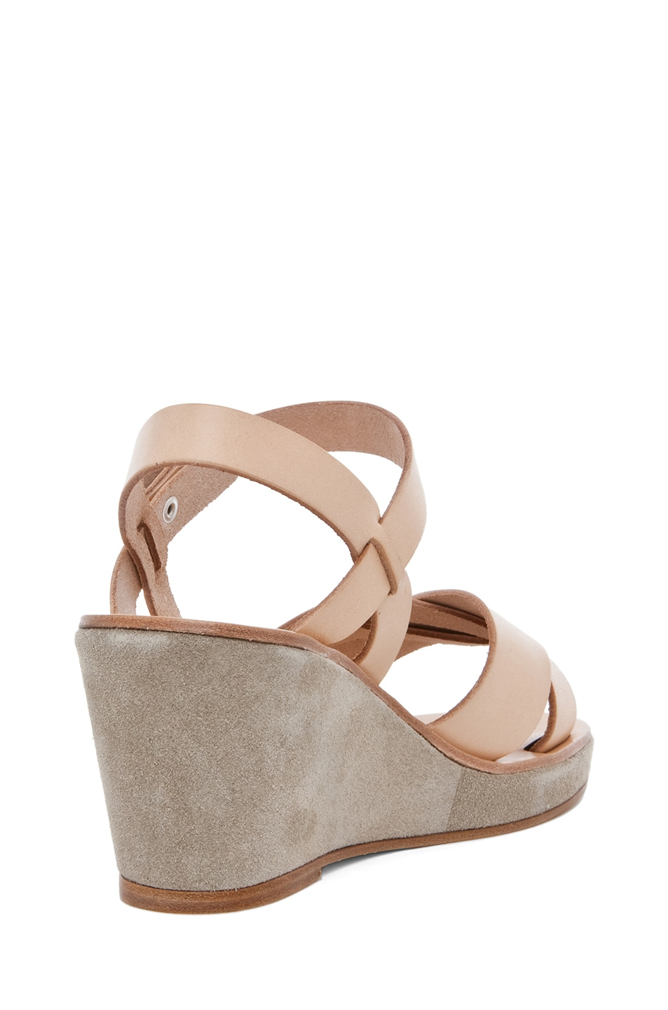 Image 3 of A.P.C. Criss Cros Wedge Sandal in Beige Naturel