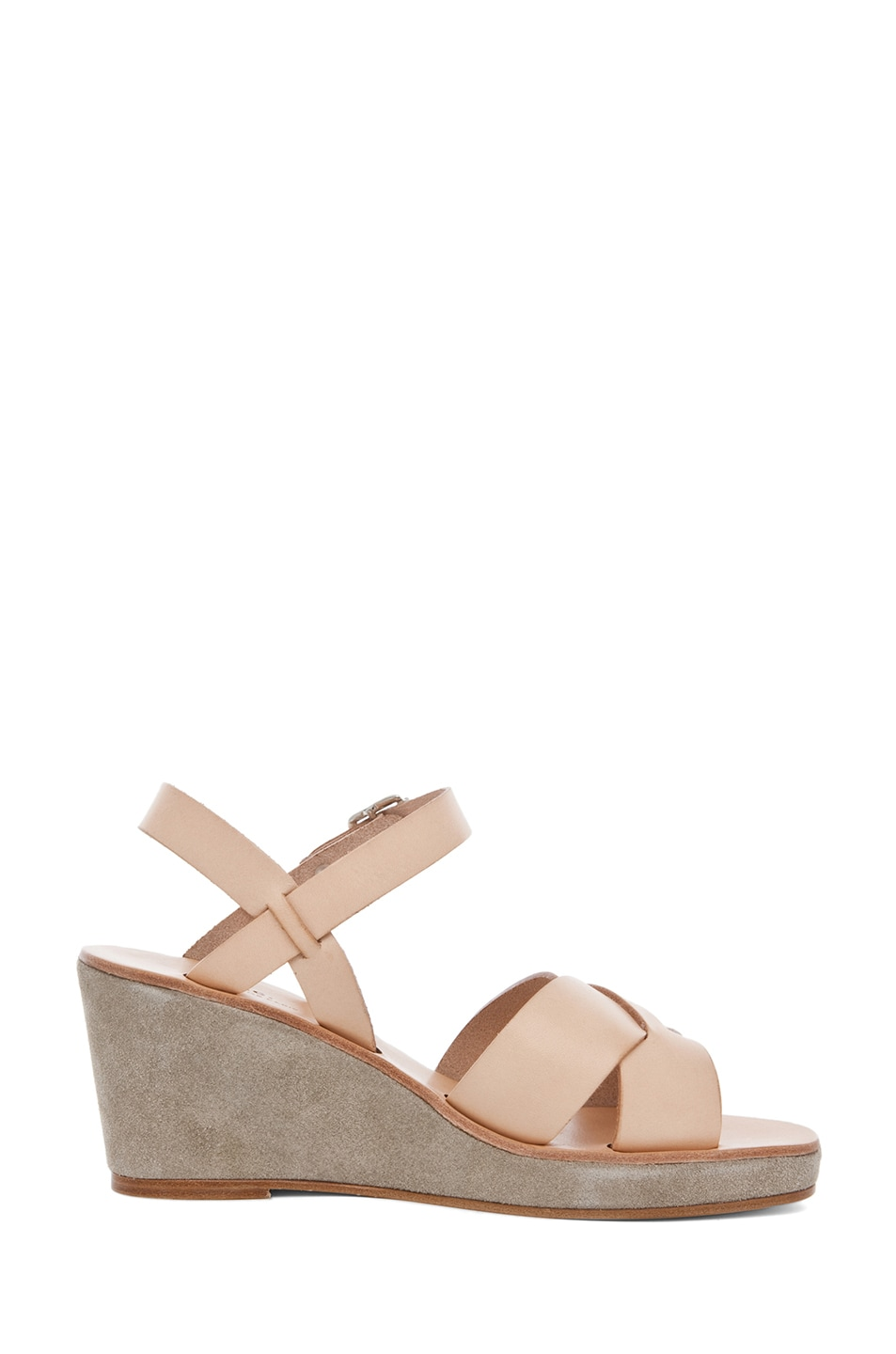 Image 5 of A.P.C. Criss Cros Wedge Sandal in Beige Naturel
