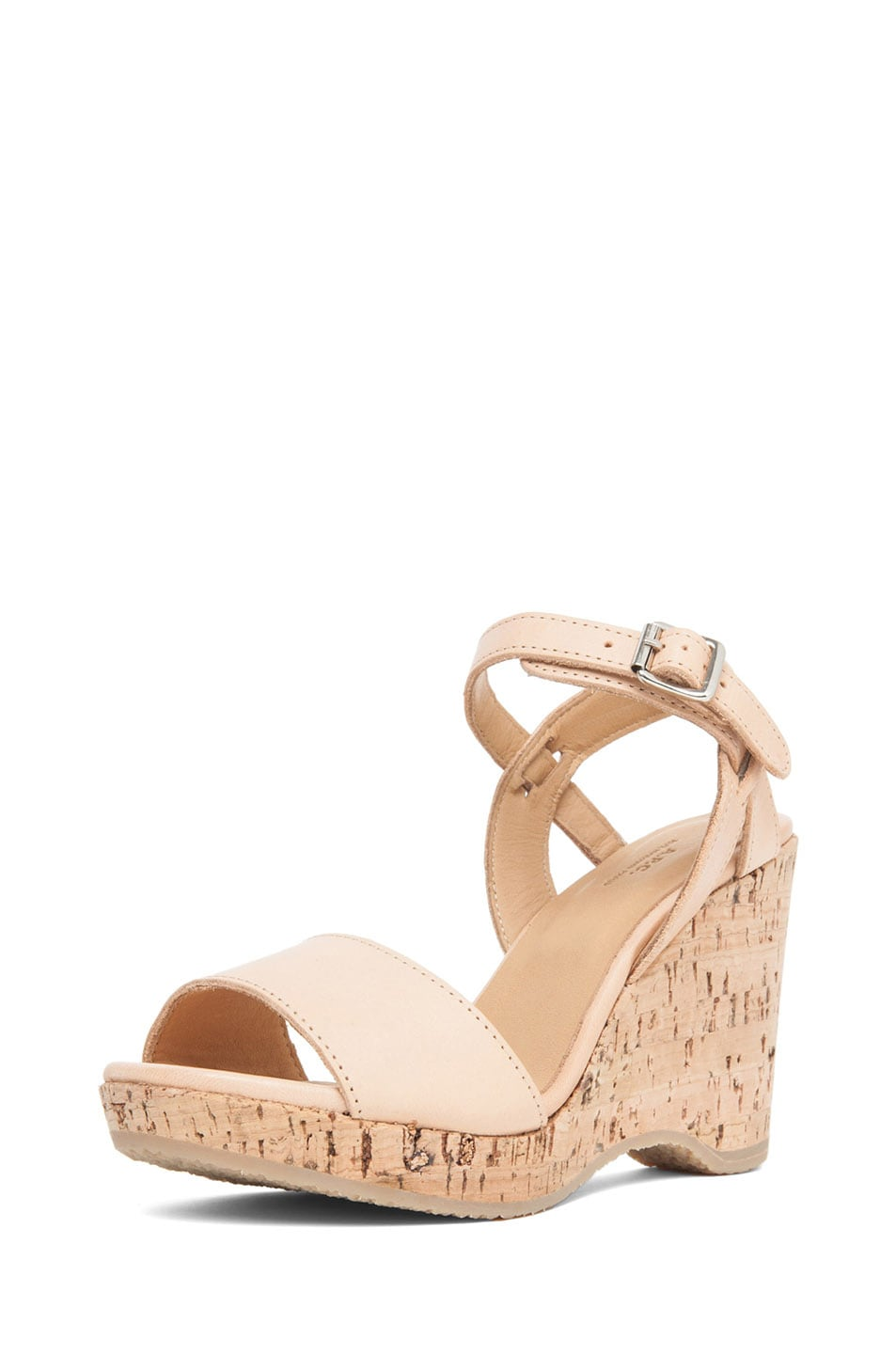 Image 2 of A.P.C. Lisse Calfskin Leather Sandals in Beige Rose
