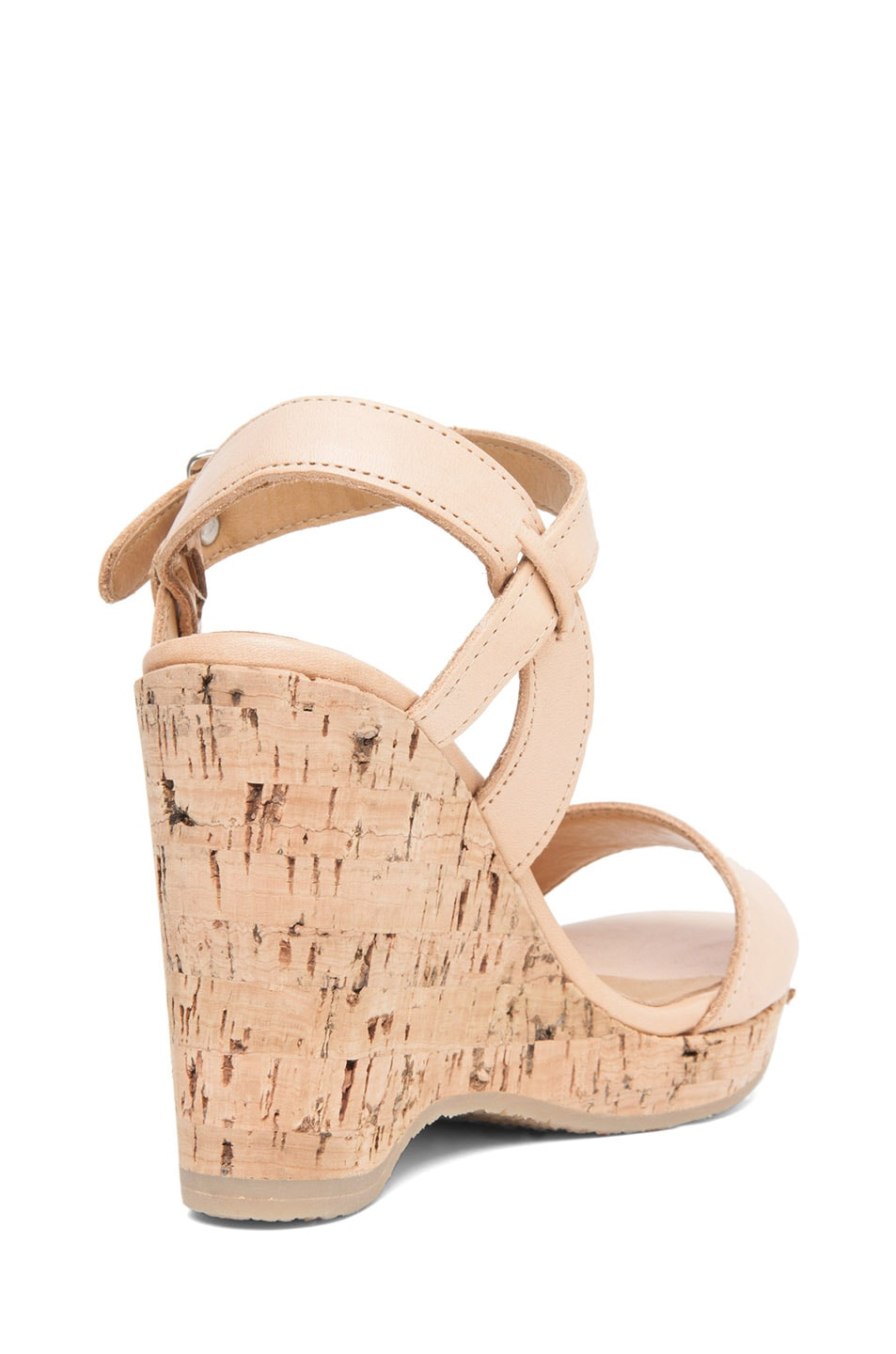 Image 3 of A.P.C. Lisse Calfskin Leather Sandals in Beige Rose