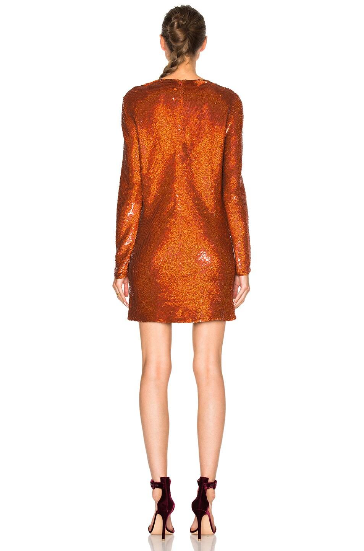 Image 4 of Ashish Drape Front Mini Dress in Titan Copper