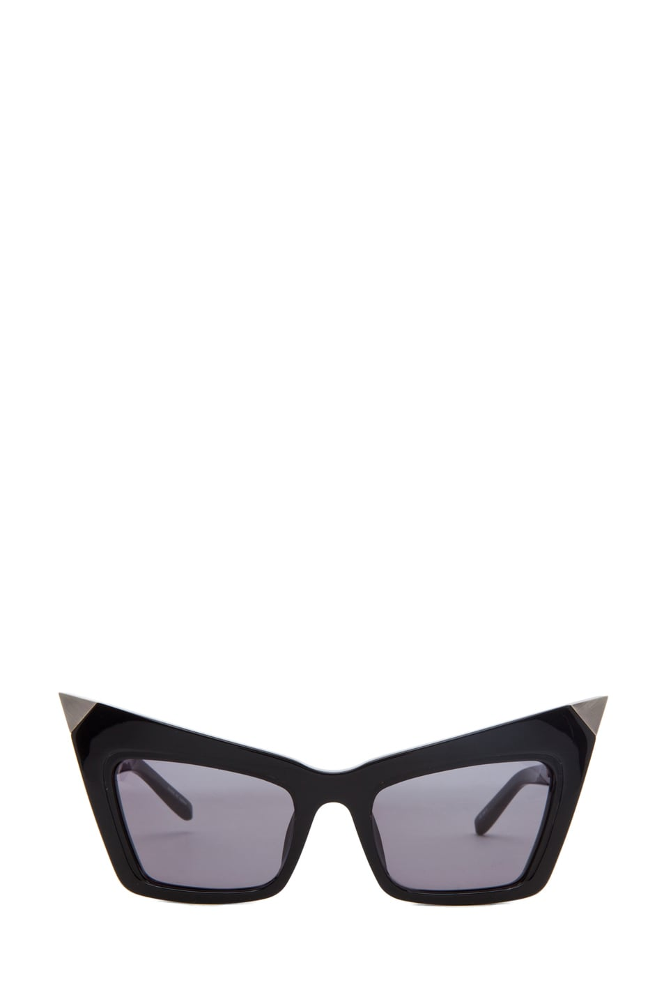 Image 1 of Alexander Wang Cat Eye Sunglasses/Silver in Black