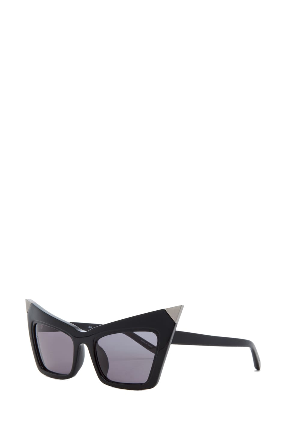 Image 2 of Alexander Wang Cat Eye Sunglasses/Silver in Black