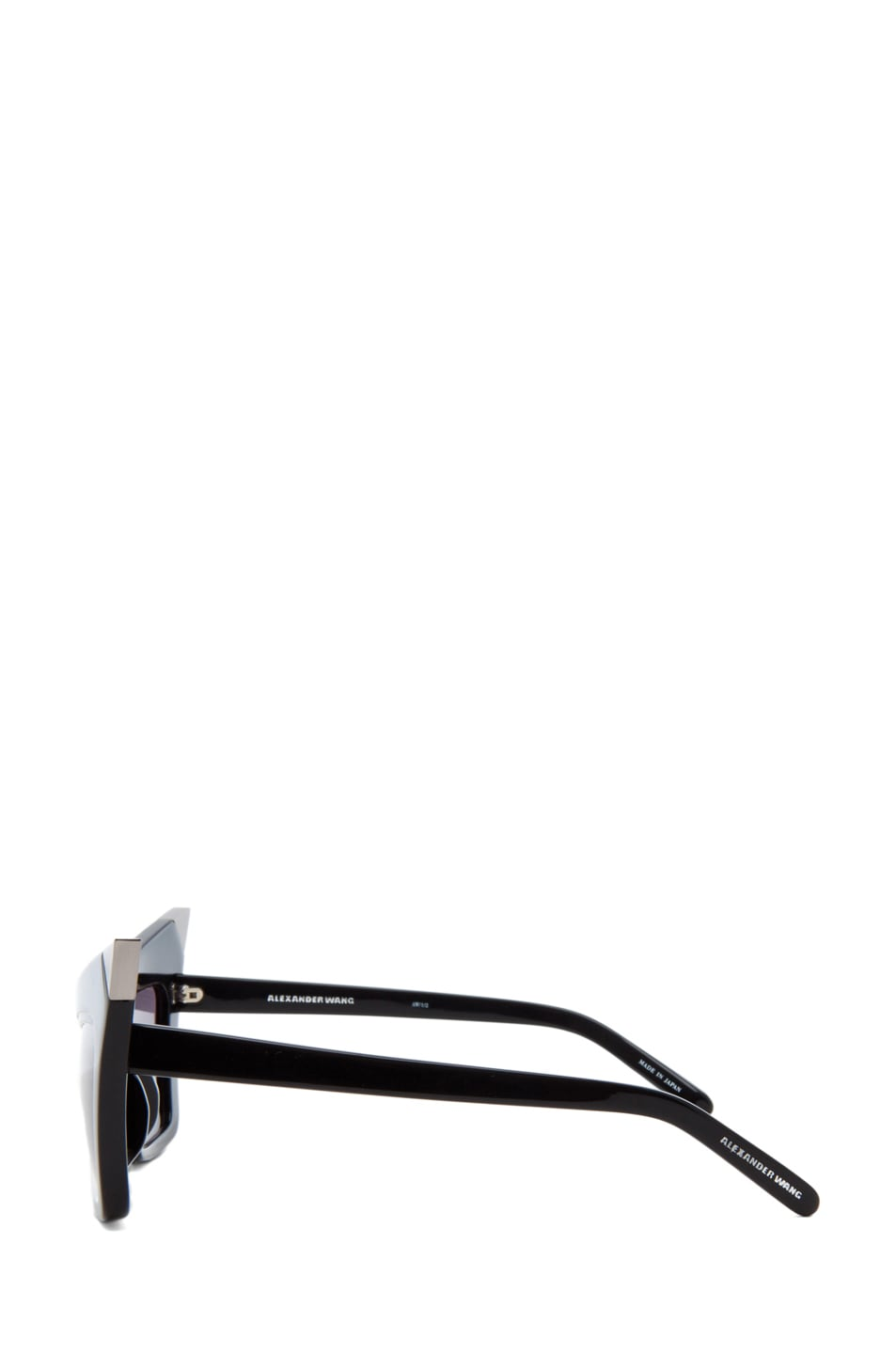 Image 3 of Alexander Wang Cat Eye Sunglasses/Silver in Black