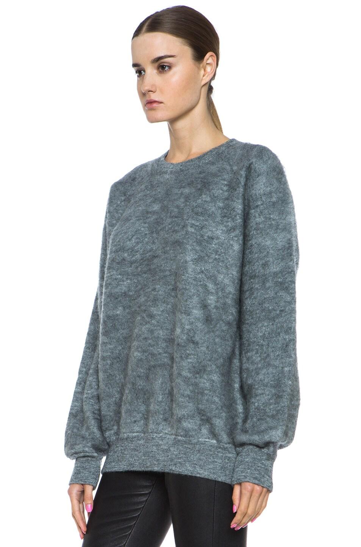 Image 2 of Alexander Wang Brushed Wool-Blend Sweatshirt in Pumice