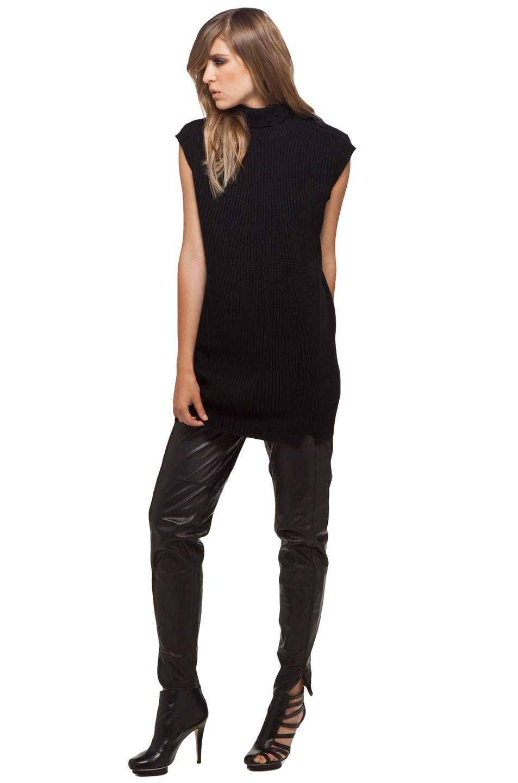 Image 2 of Alexander Wang Sleeveless Turtleneck Tunic in Black