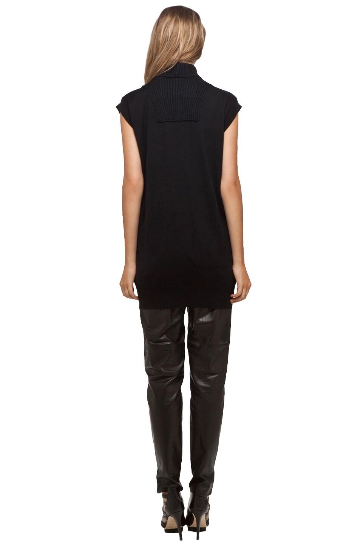 Image 4 of Alexander Wang Sleeveless Turtleneck Tunic in Black