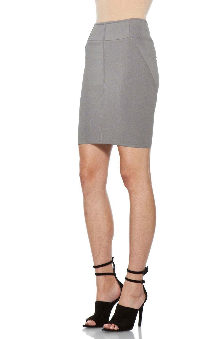 Image 2 of Alexander Wang Stretch Pencil Skirt in Concrete