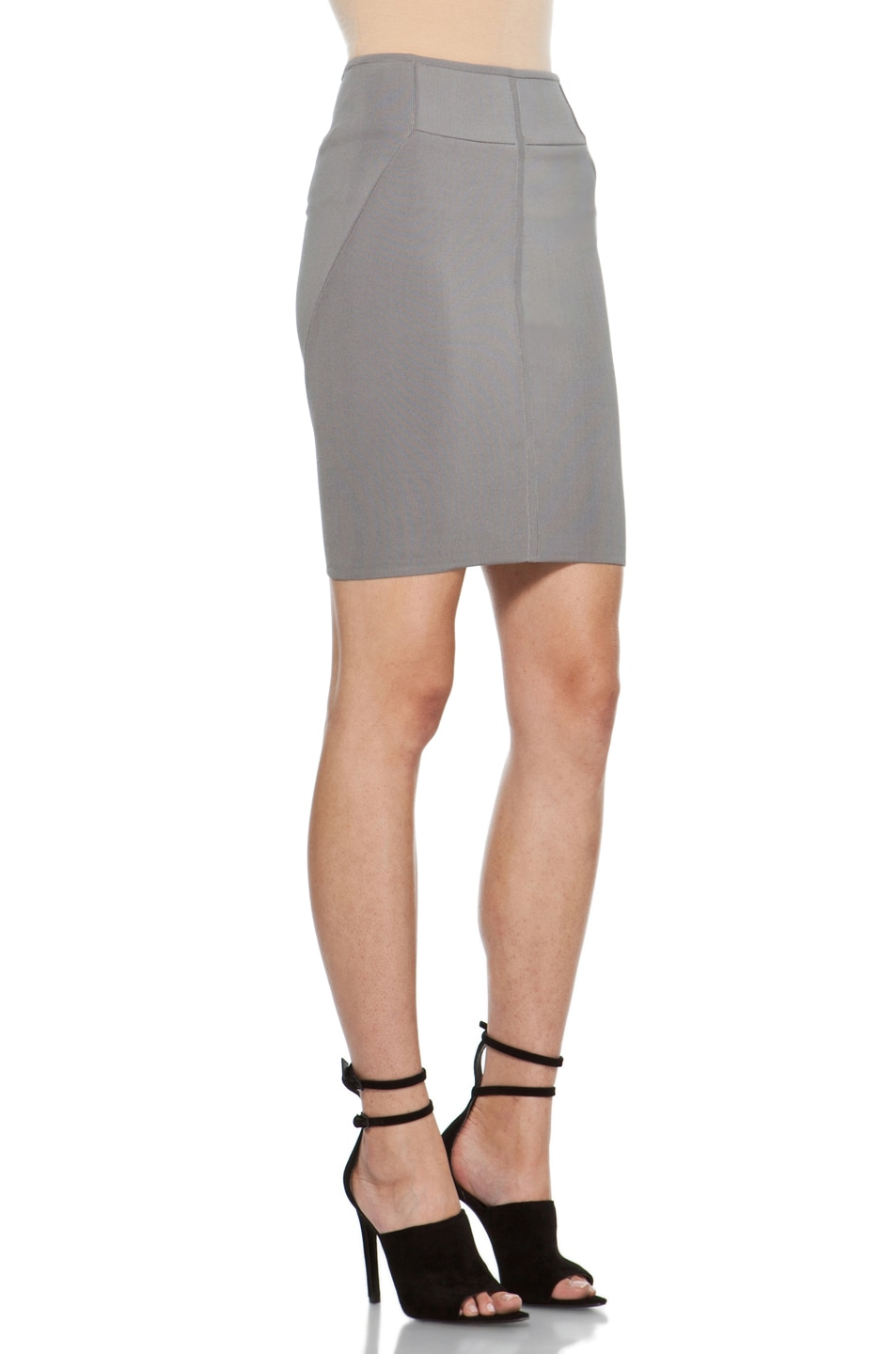 Image 3 of Alexander Wang Stretch Pencil Skirt in Concrete