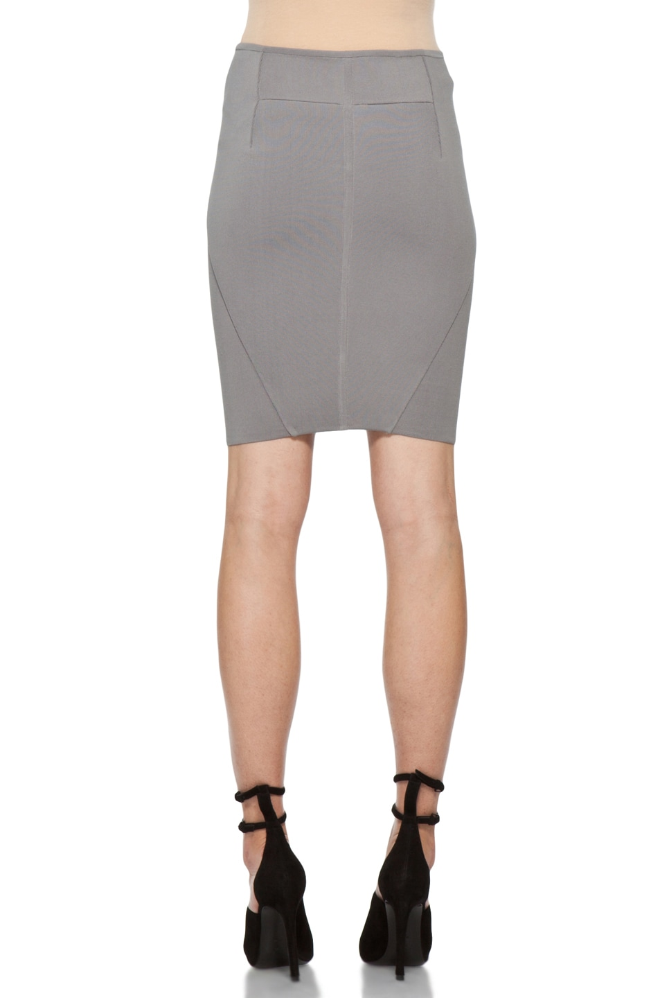 Image 4 of Alexander Wang Stretch Pencil Skirt in Concrete