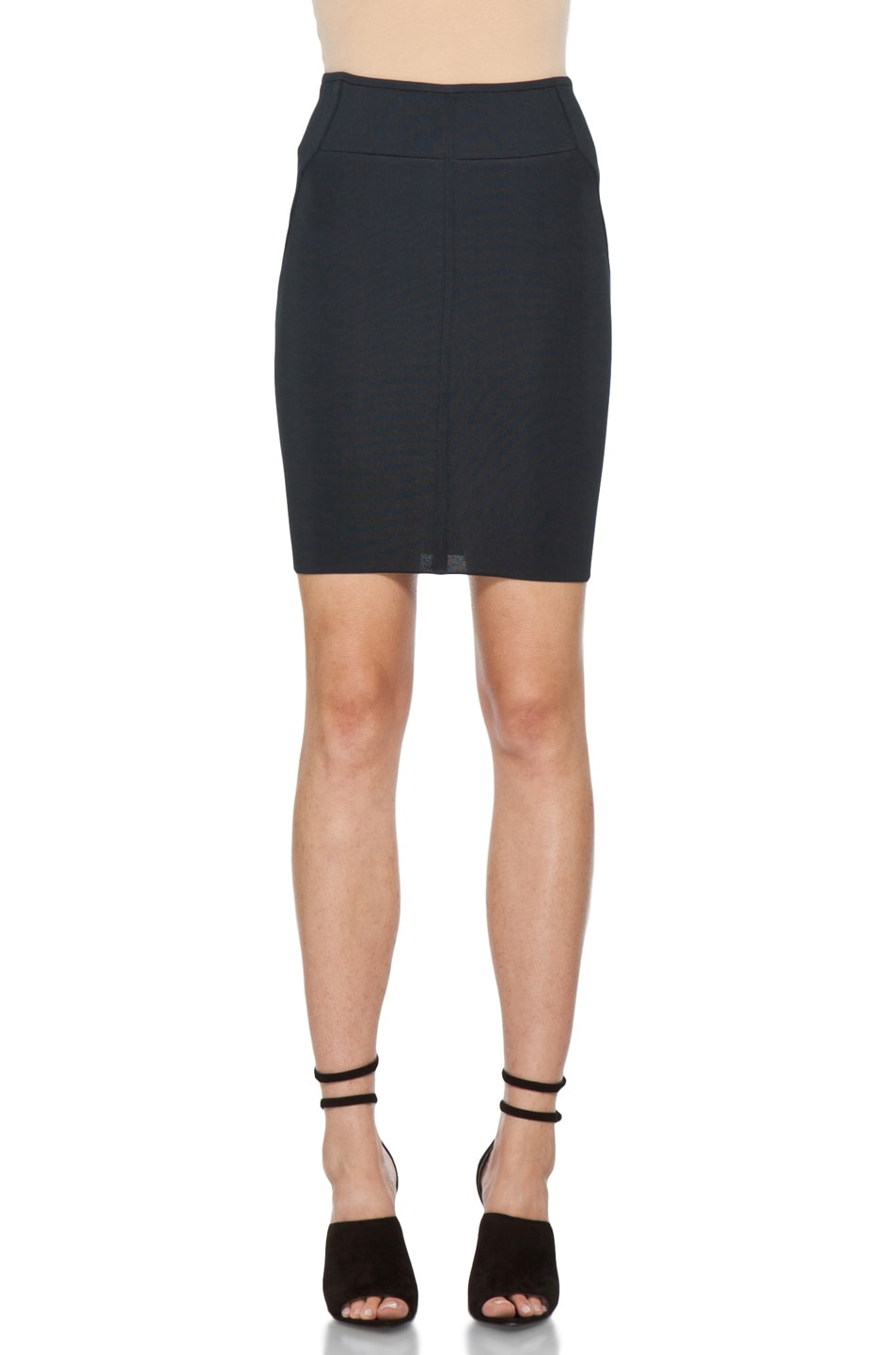 Image 1 of Alexander Wang Stretch Pencil Skirt in Ink