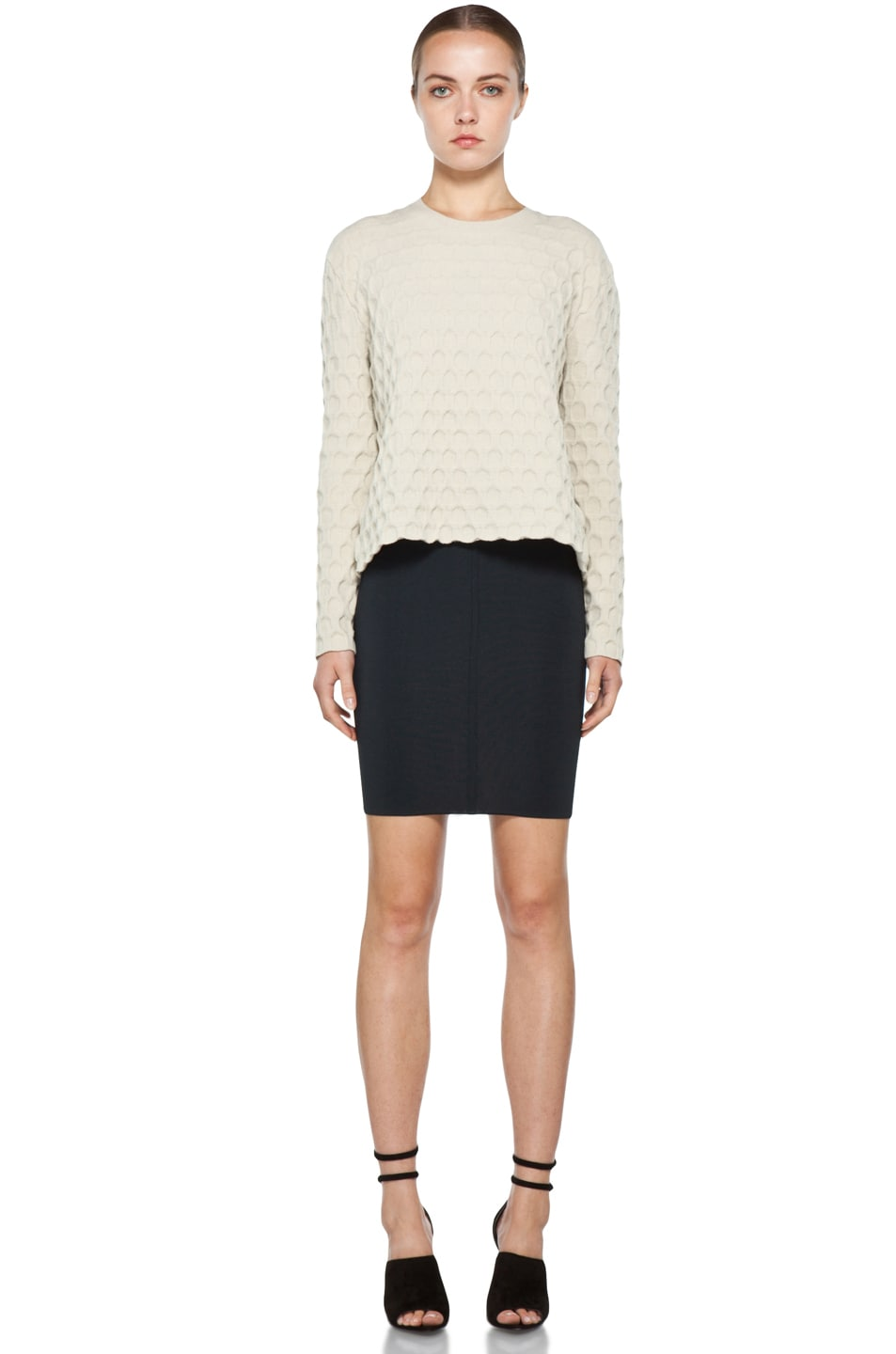 Image 5 of Alexander Wang Stretch Pencil Skirt in Ink
