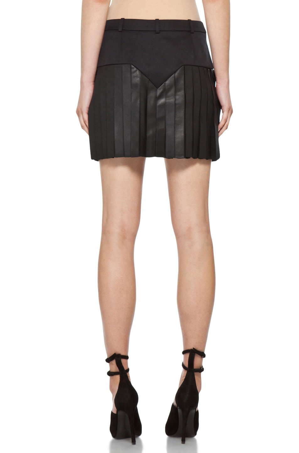Image 4 of Alexander Wang Pleated Mini Skirt in Black